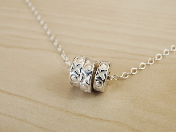 Silver XOXO Necklace - Sterling Silver