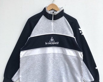 20% OFF Vintage Le Coq Sportif Half Zipper Sweater/Le Coq Sportif Sweatshirt/Le Coq Sportif Sweater/Le Cop Sportif Spell Out