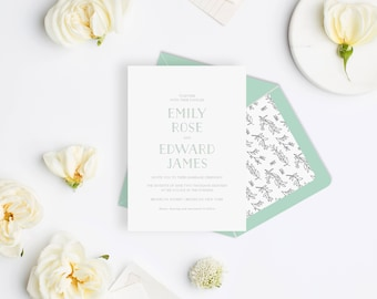 Wedding Invitation Sample - Meadow