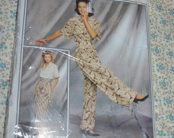 New Look 6259 Blouse and Front Tie Wrap Pants  Sewing Pattern - UNCUT - Size 8 - 18