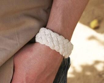 Sailor knot bracelet traditional woven rope bracelet nautical bracelet cotton turks head knot bracelet rope jewelry 2952