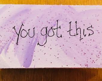 You Got This - Kitchen Magnet - Inspirational Magnet - Motivational Pink Magnet - Kitchen Motivation - Fridge Decor - Goal Setting - Purple