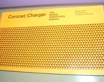 1974 Dodge Charger Coronet owners operator manual molar muscle car original