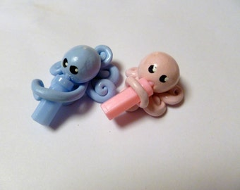 Party Pack 20 Baby  Little Octopus Mini Marble Friends Choose Boy or Girl Shower or Gender Reveal Party Favors