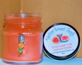 Brown Sugar and Fig Soy Mason Jar Candle 8oz