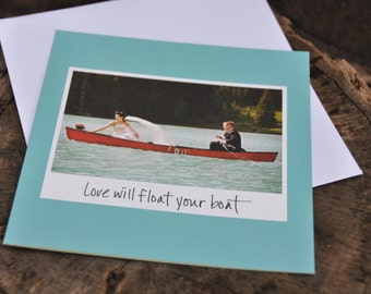 Wedding card congratulations card engagement card greeting card wedding congrats handmade card funny wedding card wedding day boat card