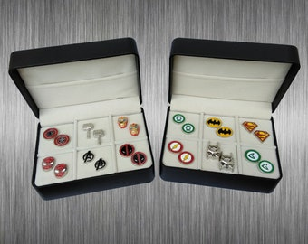 Marvel & DC Cufflink Gift Set - 6 Pairs with a free gift box