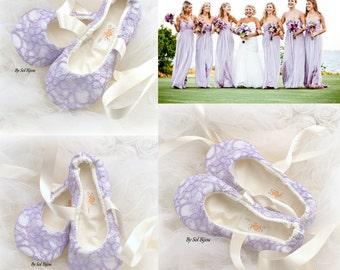 Lilac Ballet Flats,Ballet Slippers,Wedding Flats,Lavender Flats,Lace Ballet Flats,Flower Girl Flats,Bridal Flats,Vintage Style Flats,Elegant
