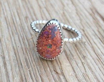Sterling Silver Mexican Opal Ring