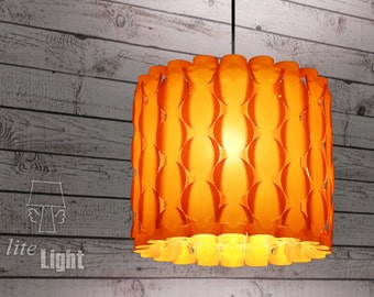Modern lighting - Pendant lighting - Ceiling light - 60s retro lamp - Circles pattern - Sunset orange lamp - Pendant lamp - Ceiling Lighting