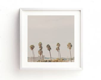 California palm trees print, Los Angeles freeway photo, palm tree printable, travel photography, LA wall art, instant print, landscape art