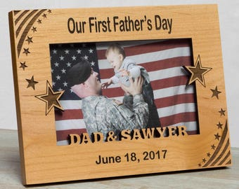 Father's Day Picture Frame,  Happy Father's Day  Frame, First Father's Day Frame, Picture Frame For Dad, Personalized Father's Day Frame