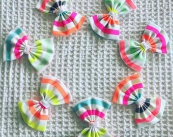 Phunki Neon Stripe Bow