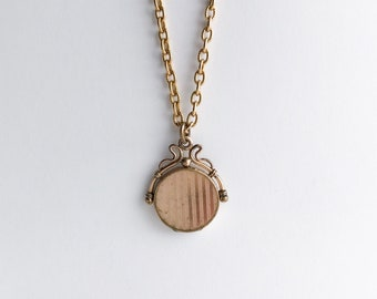 Rosy Gold Filled Antique Victorian Fob Locket