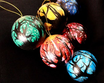 Fairytale Forest - Hand Painted Christmas Baubles