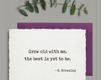 Romantic anniversary card, 1st anniversary card, first anniversary card, love card