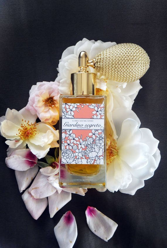 Giardino Segreto-Botanical Perfume with Ivory Bulb sprayer and golden fitting