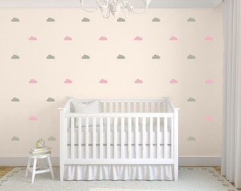 Tiny Clouds Wall Decals, Little Clouds Wall Stickers, Childrens Wall Decals, Nursery Wall Art, Tiny Clouds, Choose Your Color, Pack of 42