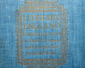Vintage Book - Literary England - 1944 - Hard cover book, English Literature, Picture essay, Poetry, Verses, Photography, Collectible