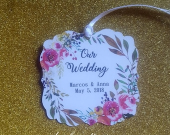 wedding tags/gift tags/thank you tags/wedding/favors