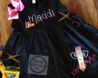 kindergarten dress, kindergarten outfit, 1st day of kindergarten