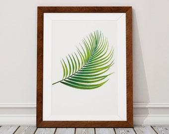 Palm Leaf Wall Art Print, Palm Leaf Print, Palm Leaf, Leaf, Wall Art Print, Wall Art, Tropical Print, Wall Decor, Print, Fine Art Print