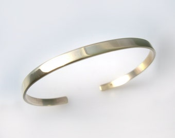 Cuff Bracelet Hand Forged 14k  with Polished Finish