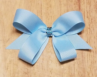 Small Light Blue Hair Bows