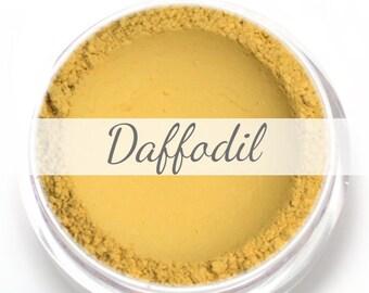 "Eyeshadow Sample - ""Daffodil"" - Matte Yellow Vegan Mineral Eyeshadow"