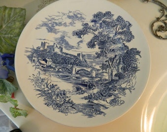 "Set of 4 Vintage Enoch Wedgwood Countryside 10"" Dinner Plates"