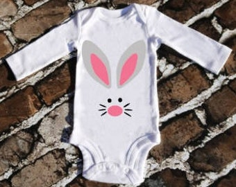 Easter Outfit, Baby Boy Easter Outfit, Baby Girl Easter Outfit, Baby's First Easter, Easter Bunny Outfit, Easter Bodysuit, Bunny face Onesie
