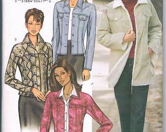 Butterick 3595/Misses/Sizes 6-8-10/Jacket/Coat/ Loose Fit/Side Front Pockets/Top Stitched/Princess Seamed/Uncut