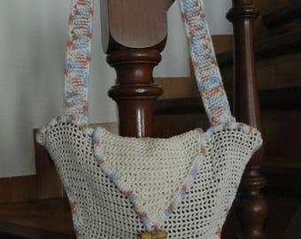 crocheted star hand bag