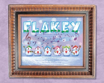 8 x 10 Singing Snowmen Wall Decor