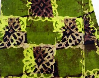 Ankara fabric, Batik, African Wax Print, Green and Lime batik, African Ankara, African Material, sold by the yard