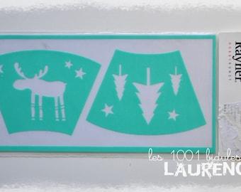 Stencil flexible Christmas theme stickers