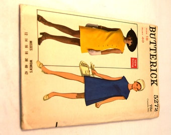 Vintage 1970s Butterick 5272 fitted one piece dress sewing pattern