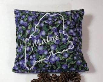Balsam Sachet, Blueberry, Maine Outline, Balsam Fir,