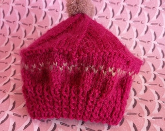 Baby girl Hat pink newborn - 1 month
