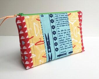 Pouch - Zippered Pouch - Cosmetic Pouch - Coin Purse - Change Purse - Travel Pouch - MakeUp Pouch - Gym Bag - Purse Pouch - Gadget Case