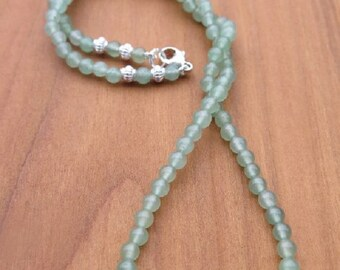 Fine Aventurine Necklace with 925 Silver