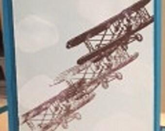 Vintage Air Plane Greeting Card