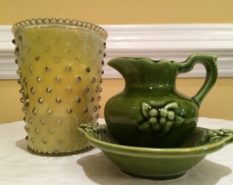McCoy / Hull Miniture Pitcher and Bowl Set