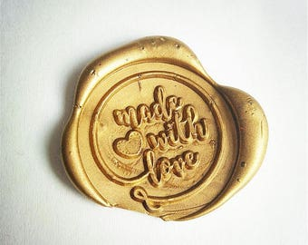 Made with Love wax seal stamp/ Made with heart /wax sealing kit /Wax seal Gift Package/sealing wax kit/wedding seal/invitation seal