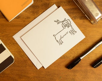 Springer Spaniel Christmas Card