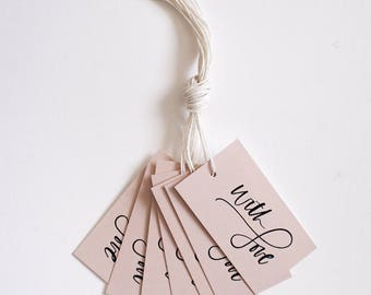 With Love Holiday Tag