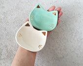 Cat Ring Dish with Gold - MINT