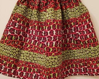 African print baby skirt