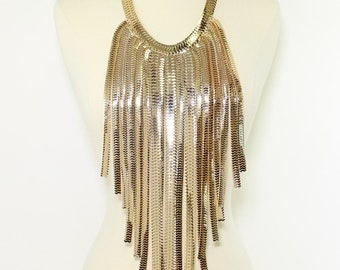 Metal Fringe Body Necklace