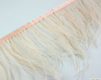 1 Yard Peach Pink Feather Trim (YM261)